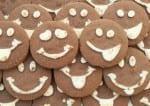 54622936 - macro background of fun chocolate cookies