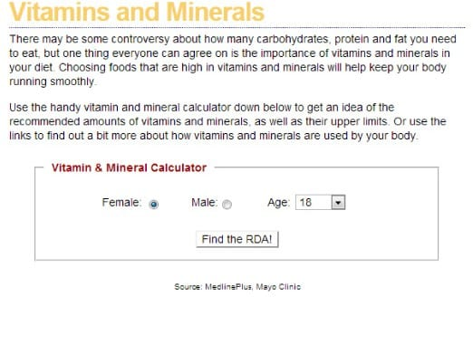 Vitamin-computer